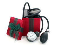 Blood Pressure Cuff in a Gift Box Stock Photography