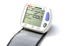 Blood pressure device. On white background Royalty Free Stock Images