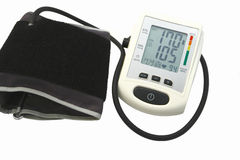 Blood pressure device. On white background Stock Image