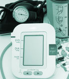 Blood pressure devices Royalty Free Stock Photo