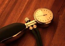 Blood pressure equipment. On wood Stock Image