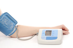 Blood pressure exam Stock Images