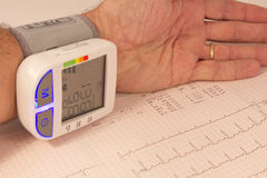 Blood pressure examination Royalty Free Stock Photos