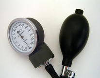 Blood Pressure Gage. On white background stock images