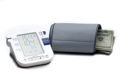 Blood pressure gauge Stock Images