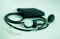 Blood pressure gauge. In perspective Stock Photography
