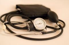 Blood pressure gauge. Pink color Stock Images