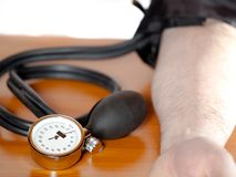 Blood pressure gauge in close Royalty Free Stock Image