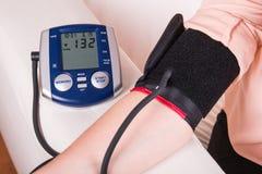 Blood pressure gauge examination Royalty Free Stock Photo