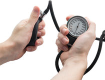 Blood pressure gauge. Stock Photos