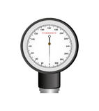 Blood pressure gauge isolated icon. Vector illustration design Stock Images