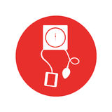 Blood pressure gauge isolated icon Stock Images
