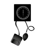 Blood pressure gauge isolated icon Stock Photo