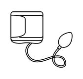 Blood pressure gauge isolated icon Stock Image