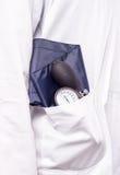 Blood pressure gauge, sphygmomanometer Royalty Free Stock Images