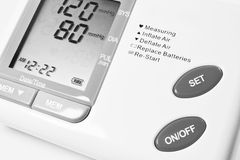Blood pressure. High blood pressure medical equipment Stock Photo