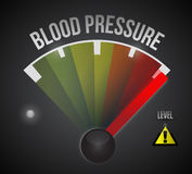 Blood pressure level measure meter Royalty Free Stock Photo