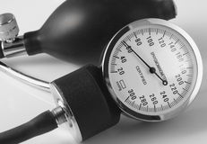 Blood Pressure Machine. Number dial and bulb from blood pressure machine Stock Image