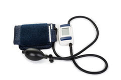 Blood pressure machine on white background Stock Image