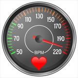 Blood pressure manometer. Blood pressure gauge illustration isolated on white background Stock Photos