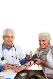 Blood pressure measurement Stock Photos