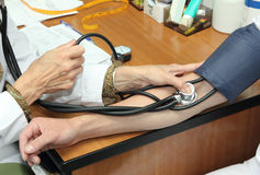 Blood pressure measurement Stock Photography