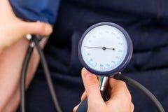 Blood pressure measurement Royalty Free Stock Image