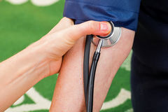 Blood pressure measurement Stock Images