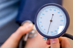 Blood pressure measurement Royalty Free Stock Image