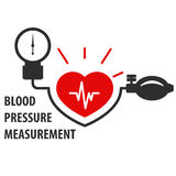 Blood pressure measurement icon Royalty Free Stock Image