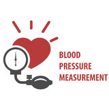 Blood pressure measurement icon - sphygmomanometer Royalty Free Stock Images