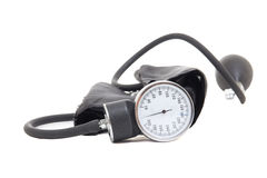 Blood pressure measurement instrument isolated on white Royalty Free Stock Photography