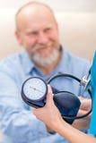 Blood pressure measurement Stock Image