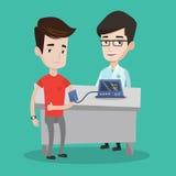 Blood pressure measurement vector illustration. Stock Images