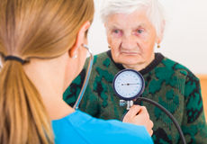 Blood pressure measurement Stock Image