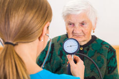 Blood pressure measurement Royalty Free Stock Photography