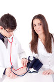 Blood pressure measuring Stock Photo