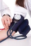 Blood pressure measuring Stock Photo
