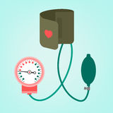 Blood pressure measuring. Beautiful vector illustration of blood pressure measuring. Abstract medicine symbol. Useful for sign development, indographics Royalty Free Stock Images