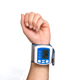 Blood pressure measuring device. Close up of blood pressure measuring device Stock Image