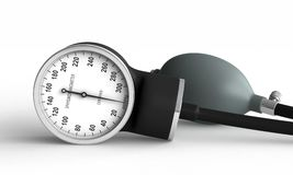Blood pressure measuring device Stock Images