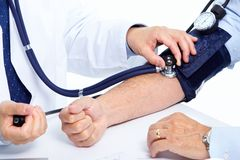 Blood pressure measuring. royalty free stock photo
