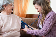 Blood pressure measuring Stock Image
