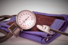 Blood pressure measuring. Health care concept Royalty Free Stock Image