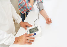 Blood pressure measuring Royalty Free Stock Image