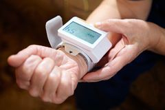 Blood pressure measuring. Stock Photo