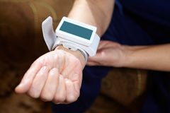 Blood pressure measuring. Royalty Free Stock Photography
