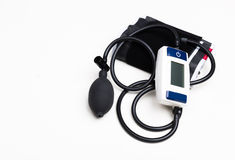 Blood pressure measuring. With a tonometer Royalty Free Stock Image