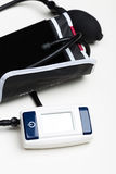 Blood pressure measuring. With a tonometer Stock Photo
