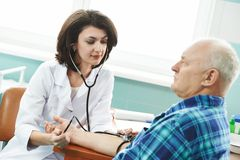 Blood pressure medic test Royalty Free Stock Image